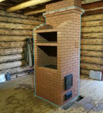 Двухэтажная печь 3.5 на 4 кирпича