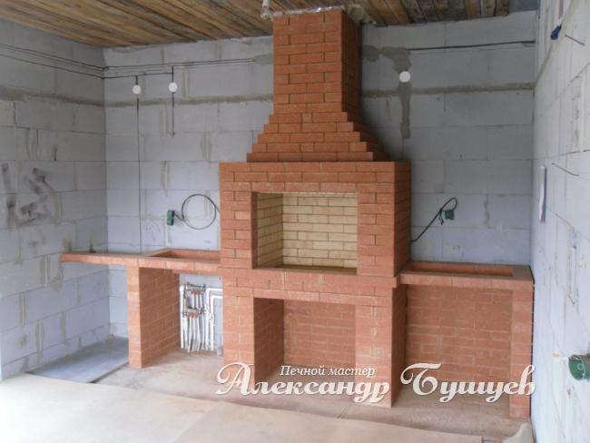 Фото летняя кухня барбекю